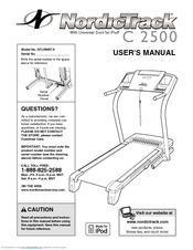 nordictrack c 2500 ntl09007 0 user manual pdf download rh manualslib com C2500 1950 C2500 1950