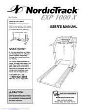 Nordictrack EXP 1000 X Manuals