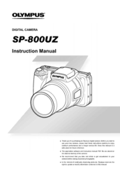 olympus sp 800uz manuals rh manualslib com olympus sp-800uz price olympus sp-800uz review