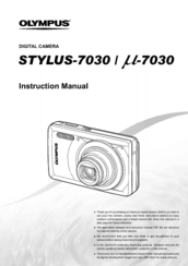 olympus stylus 7030 instruction manual pdf download rh manualslib com olympus stylus 7000 manual Olympus Stylus 35Mm