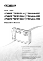 olympus stylus tough 8010 instruction manual pdf download rh manualslib com Olympus Stylus Camera Battery Replacement Olympus Stylus Tough 8010 227660