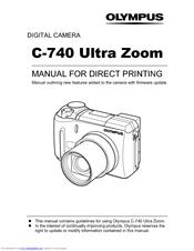 Olympus CAMEDIA C-740 Ultra Zoom Manual
