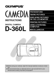 Olympus d-360l 1. 2mp digital camera manual.