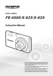 Olympus X-925 Manuals