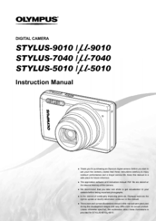 olympus stylus 7040 manuals rh manualslib com Olympus Stylus 7040 14 MP Digital Camera Rear View Olympus VR-320
