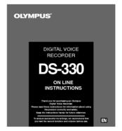 olympus ds 330 digital voice recorder manuals rh manualslib com olympus digital voice recorder ws 311m instruction manual olympus digital voice recorder vn 7000 instruction manual