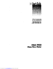 Omega MASS FLOW FMA-1900 User Manual