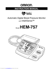 Omron HEM-757 Instruction Manual