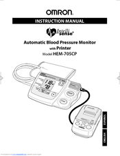 Omron INTELLISENSE HEM-705CP Instruction Manual