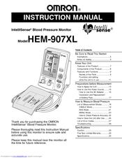 omron blood pressure monitor manual hem 712c