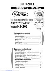 Omron GO SMART HJ-203 Instruction Manual