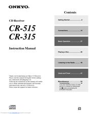 onkyo cr 515 cr 315 instruction manual pdf download rh manualslib com  onkyo cs 315 review