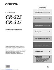 onkyo cr 325 manuals rh manualslib com Onkyo CR 325 Receiver Onkyo CR 325 Receiver