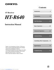 onkyo ht r640 manuals rh manualslib com