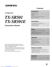 Onkyo tx-sr501 service manual:: receivers, amplifiers, tuners.