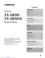 ONKYO TX-SR501E INSTRUCTION MANUAL Pdf Download