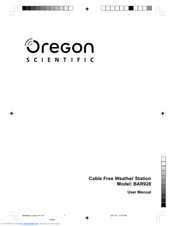 oregon scientific ba928 manuals rh manualslib com Oregon Scientific Indoor Outdoor Thermometer Manual Oregon Scientific Rain Monitor Manual