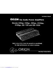 [SCHEMATICS_48IS]  ORION 220GX INSTALLATION MANUAL Pdf Download | ManualsLib | Orion Car Stereo Wiring Diagram |  | ManualsLib