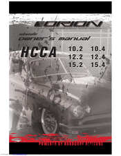 Orion Car Audio HCCA 15.2 Owner's Manual