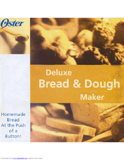 Oster deluxe bread and dough maker Manual