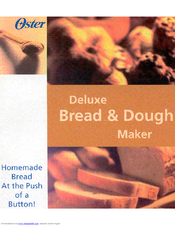 Oster Bread & Dough Maker Owner's Manual