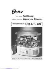 oster 5711 manuals rh manualslib com oster food steamer 5715 manual oster food steamer instruction manual