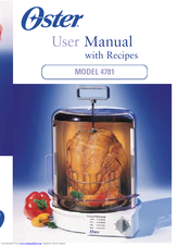 Oster 4781 User Manual With Recipes