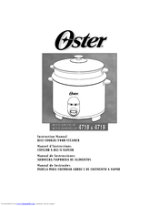 Oster 4718 Instruction Manual