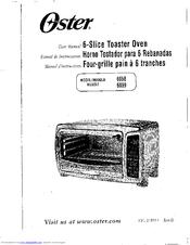 oster 6058 user manual pdf download rh manualslib com Oster 6058 126 001 Oster Large Toaster Oven