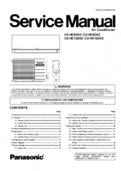 Panasonic CS-HE9DKE User Manual