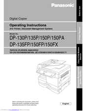 Panasonic 135P Operating Instructions Manual