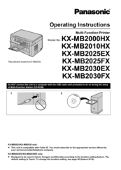 Panasonic KX-MB2025EX Multi-Function Station Drivers for Windows