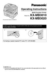 Driver for Panasonic KX-MB261E Multi-Function Station