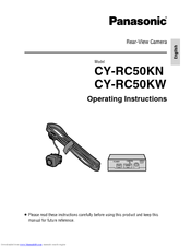 Panasonic CY-RC50KW Operating Instructions Manual