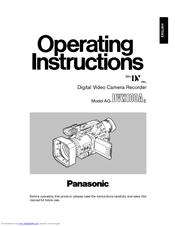 Panasonic AGDVX100 - DV CAMCORDER Manuals