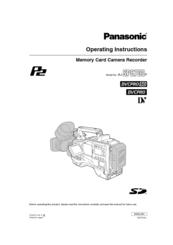 Panasonic AJ-SPC700 Manuals