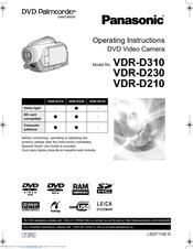 panasonic dvd e cam vdr vdr d210 operating instructions manual pdf rh manualslib com Panasonic Manuals Servo Motors Manual Panasonic Radio