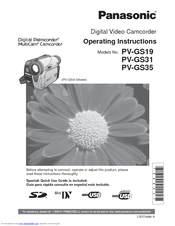 panasonic pv gs35 manuals rh manualslib com panasonic model pv-gs35 manual panasonic model pv-gs35 manual