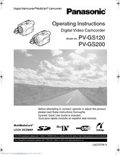 Datasheet) pv-gs200 pdf operating instructions digital video.
