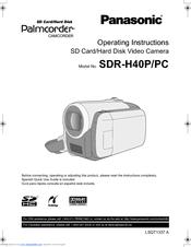panasonic sdr h40p pc manuals rh manualslib com panasonic video camera sdr-h40p manual panasonic hdd sdr-h40p manual