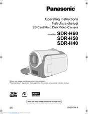 panasonic sdr h40 manuals rh manualslib com Panasonic SDR H40p Battery Panasonic SDR H40p Battery