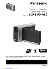 Panasonic SDR-SW20P Operating Instructions Manual