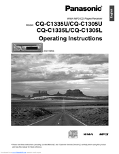 panasonic cq-c1305u operating instructions manual