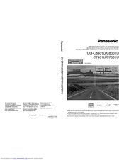 Panasonic CQ-C8401U - Radio / CD Operating Instructions Manual