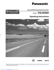 Panasonic CQ-5251JU Operating Instructions Manual