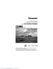 Panasonic CQ-C5305U Operating Instructions Manual