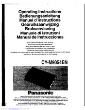 Panasonic CY-M9054EN Operating Instructions Manual