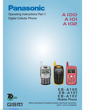 Panasonic A101 Operating Instructions Manual