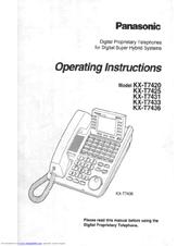 panasonic kx t7433 manuals rh manualslib com Panasonic Kx T7433 Manual Programming Panasonic Kx T7433 Manual Programming