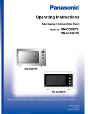 Panasonic NN-CD997S Operating Instructions Manual